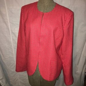 Kim Rogers Red/White Jacket for the Holidays